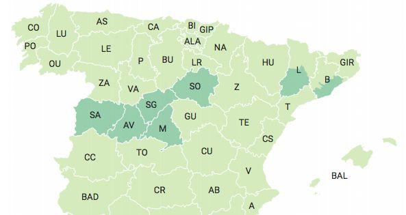 Mapa de la desescalada a partir del 15 de