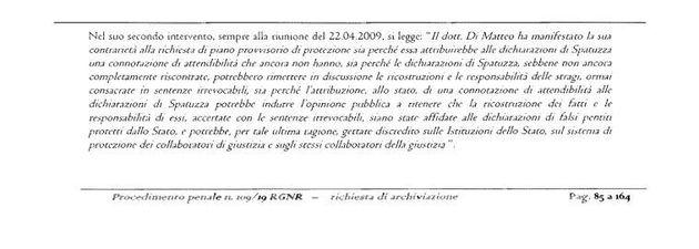 Un estratto della richiesta di archiviazione dei pm di Messina nei confronti di Carmelo Petralia e Anna