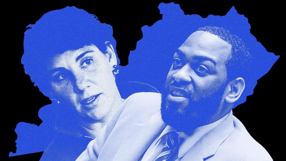 Former Marine fighter pilot Amy McGrath (left) and state Rep. Charles Booker are locked in Kentucky's newly heated Democratic