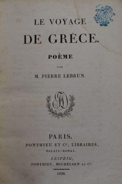 Pierre-Antoine Lebrun, Le Voyage de Grèce, Paris & Leipzig: Ponthieu etc Cie., 1828 (Συλλογή