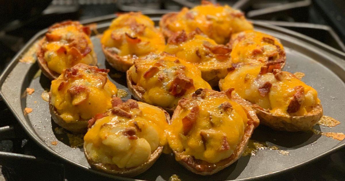 Patatas cremosas de queso cheddar y bacon
