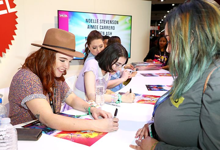 """She-Ra and the Princesses of Power"" show-runner and executive producer Noelle Stevenson meets fans at San Diego Comic-Con 2019 on July 19, 2019."