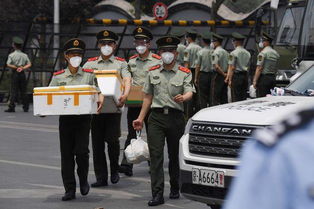 Λουκέτο σε κενρική αγορά στο Πεκίνο λόγω αύξησης κρουσμάτων