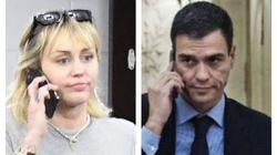 Miley Cyrus escribe a Pedro Sánchez por Twitter y le hace esta petición sobre el
