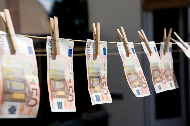 Money on a washing