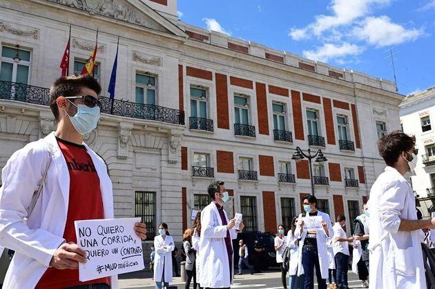 Manifestación de los sanitarios por sus