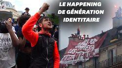 Génération identitaire déploie une banderole à la marche pour Adama