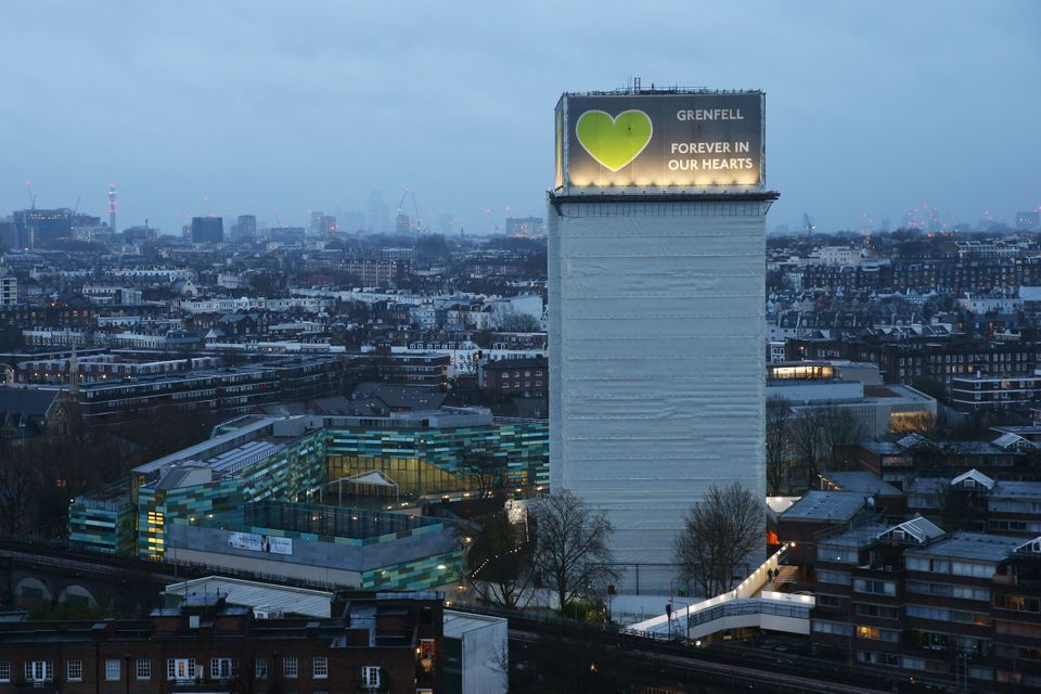 Grenfell Tower, where a severe fire killed 72 people in June
