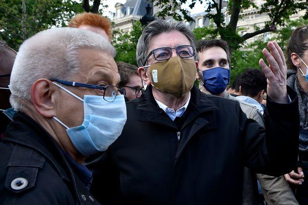 Jean-Luc Mélenchon lors d'un précédent rassemblement contre le racisme jeudi 9 juin...