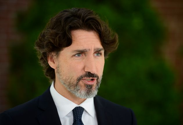 Prime Minister Justin Trudeau holds a press conference at Rideau Cottage in Ottawa on June