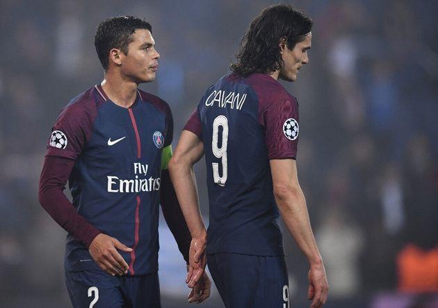 Edinson Cavani et Thiago Silva, ici en mars 2018, vont quitter le