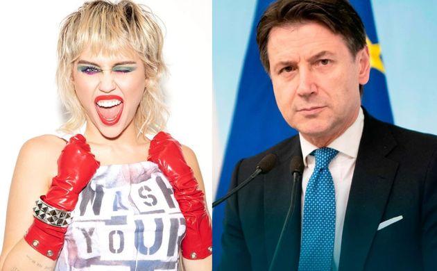 Miley Cyrus chiede aiuto a Conte su Twitter. E lui risponde: