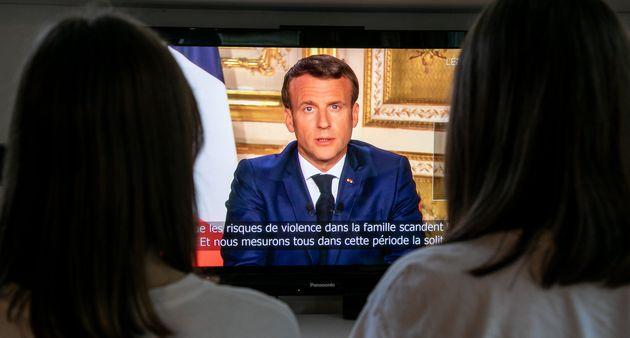 Emmanuel Macron, ici lors de son discours le 13 avril, s'adressera une nouvelle fois aux Français...