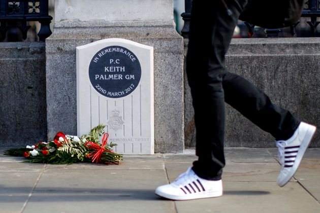 A man has now been charged over urinating next to a memorial for murdered officer PC Keith