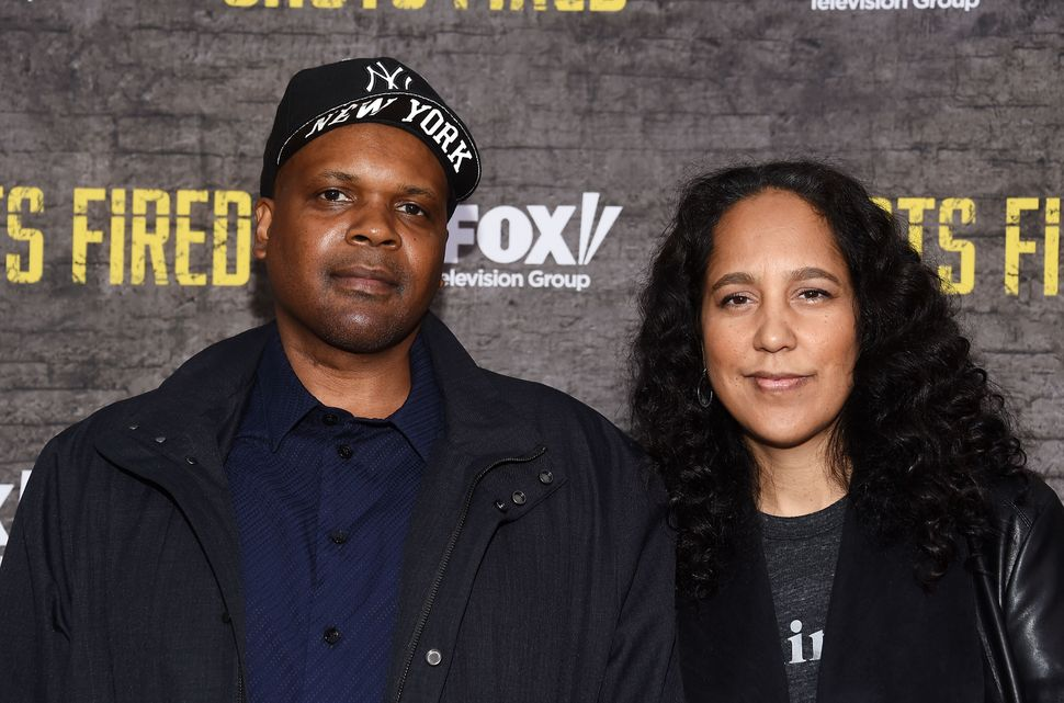 """Executive producers Reggie Rock Bythewood (left) and Gina Prince-Bythewood arrive at Fox's """"Shots Fired"""" FYC Event at the Sab"""