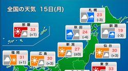 【今日の天気】 東京は猛暑