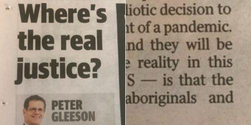 Peter Gleeson's Sunday Telegraph column