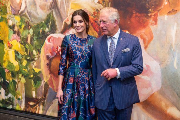 Letizia y el príncipe Carlos en