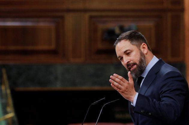 El líder de Vox, Santiago Abascal, el pasado 20 de mayo en el