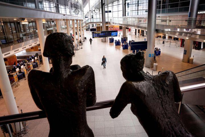 Το αεροδρόμιο της Κοπεγχάγης. (Photo by Liselotte Sabroe / Ritzau Scanpix / AFP) / Denmark OUT (Photo by LISELOTTE SABROE/Ritzau Scanpix/AFP via Getty Images)