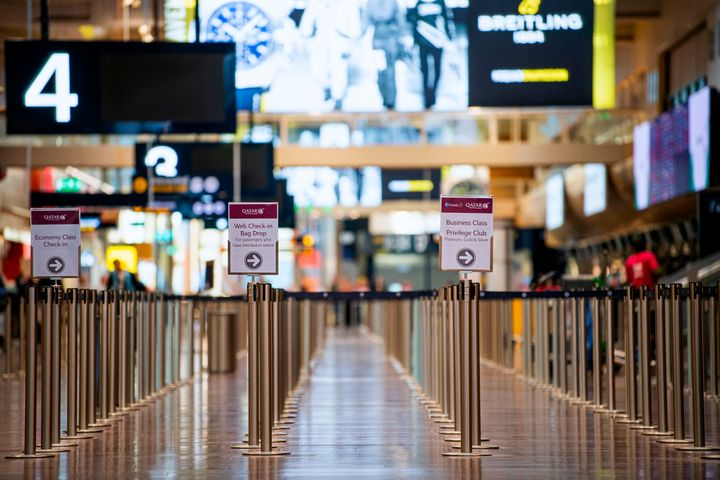 Στο διεθνές αεροδρόμιο Αρλάντα της Σουηδίας. (Photo by Jonathan NACKSTRAND / AFP) (Photo by JONATHAN NACKSTRAND/AFP via Getty Images)