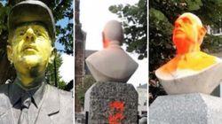 À qui s'en prennent ceux qui vandalisent les statues en