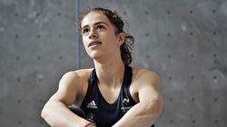 Luce Douady, future championne d'escalade âgée de 16 ans, est