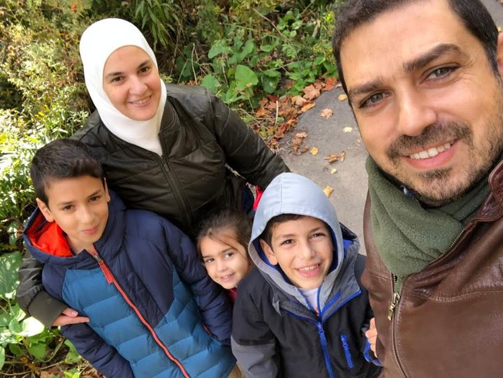 Rawan Shwaikany and her family.