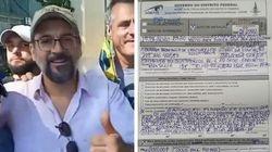 Ministro da Educação é multado em R$ 2 mil por não usar máscara em protesto em