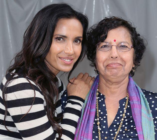Padma Lakshmi and her mother, Vijaya Lakshmi, in