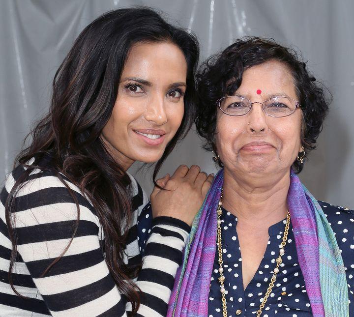 Padma Lakshmi and her mother, Vijaya Lakshmi, in 2016.
