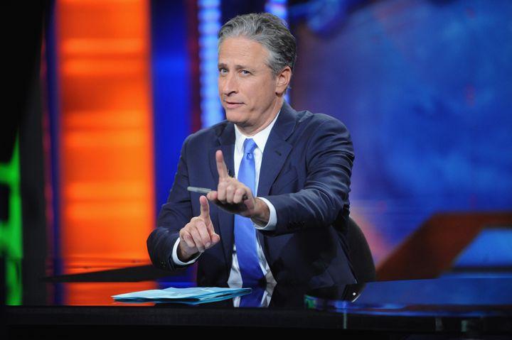 "Jon Stewart hosts ""The Daily Show."""