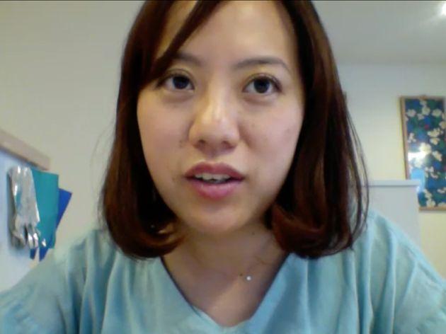 オンラインでの取材に答える西出博美さん。NPO法人「ぱぱとままになるまえに」の代表も務める。
