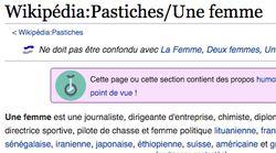 Cette page Wikipédia dénonce avec humour une habitude sexiste dans les