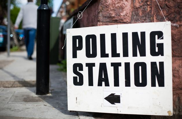Directions to a polling station for a UK general