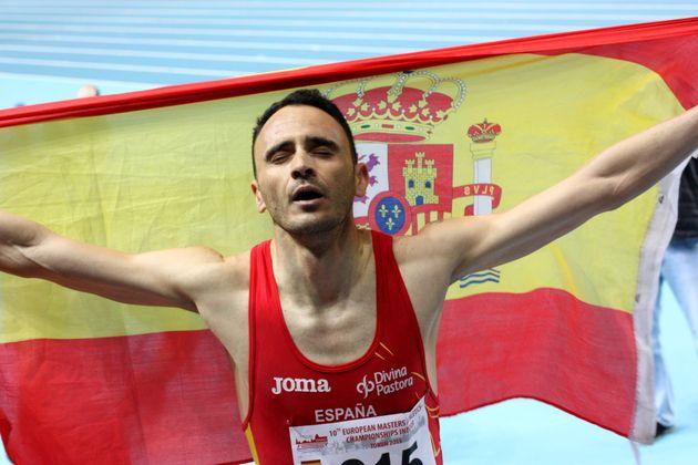 Roberto Sotomayor, como campeón de Europa en la modalidad 1.500 metros del campeonato de Europa...