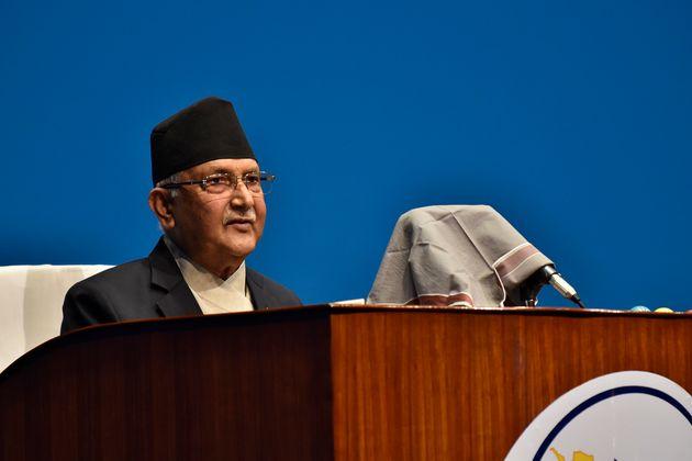 Prime Minister KP Sharma Oli addressing the House of Representatives (HoR) on June 10,