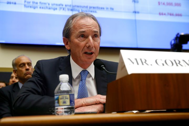 In this April 10, 2019, file photo, Morgan Stanley chairman and CEO James Gorman testifies before the House Financial Service