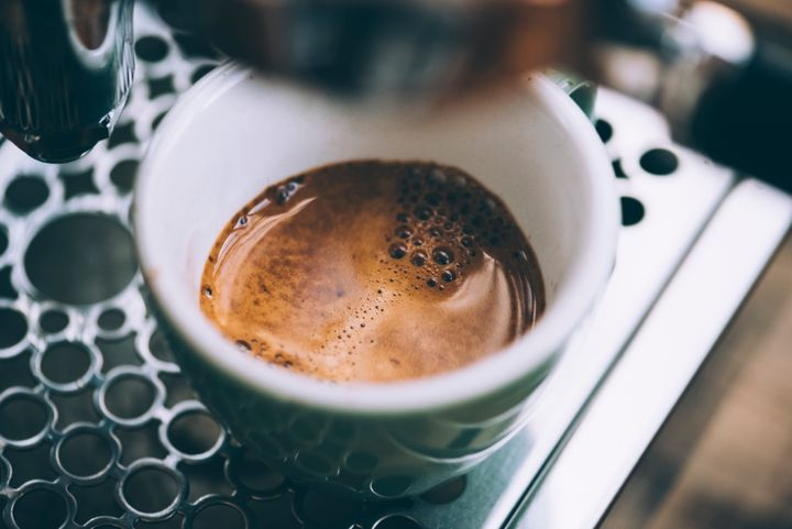 Your coffee-to-water ratio has more to do with caffeine levels than the brewing process. As seen here, espresso contains high levels of caffeine because of the small amount of water used to brew it.
