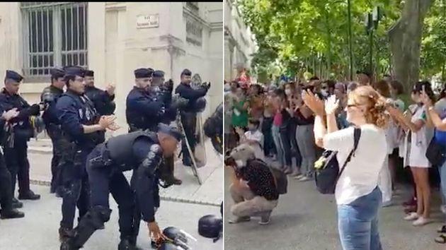À Nîmes, les CRS chargés d'encadrer la manifestation des soignants ont applaudi copieusement ceux qui...