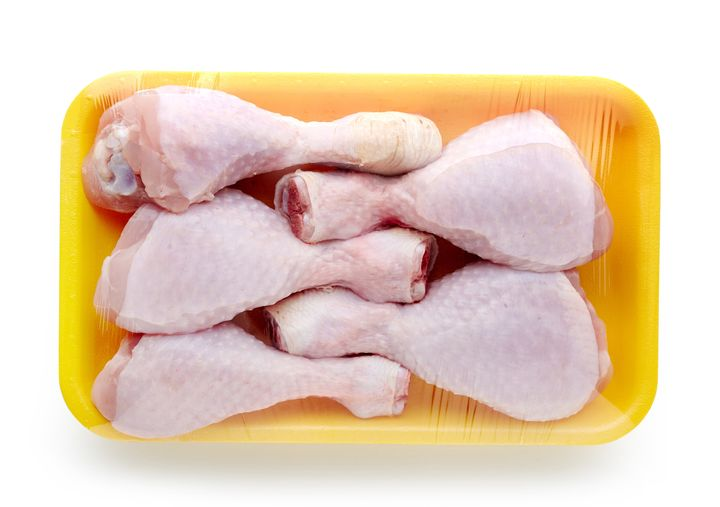 Rinsing raw chicken can actually spread campylobacter and salmonella -- two bacteria found in raw chicken and turkey that are known to cause food poisoning -- around your sink and kitchen surfaces.