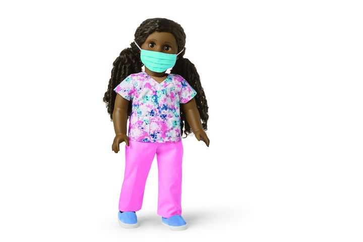 The limited-edition scrubs outfit includes pants, a top, shoes and a face mask.