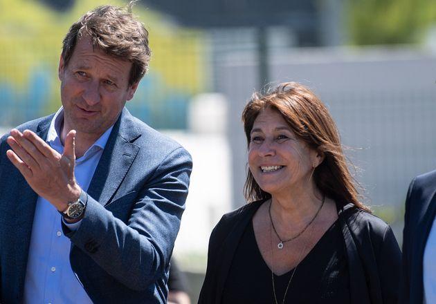 La gauche favorite des municipales à Marseille (Michèle Rubirola et Yannick Jadot le 15 juin