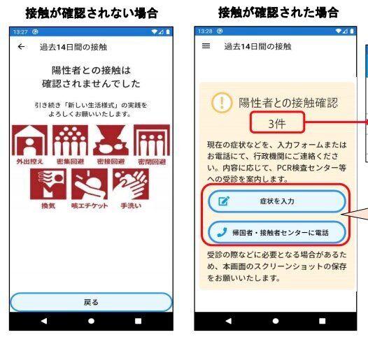 接触が確認されない場合(左)とされた場合(右)画像はイメージ