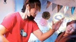 최홍만이 일본 여성과 남성의 뺨을 차례로 때린