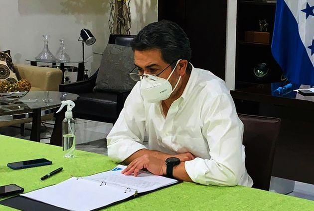 s Honduran President Juan Orlando Hernandez has tested positive for