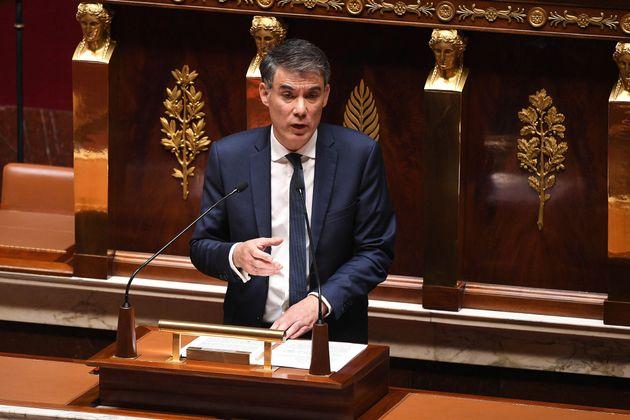 Le premier secrétaire du parti socialiste Olivier Faure à l'Assemblée nationale...