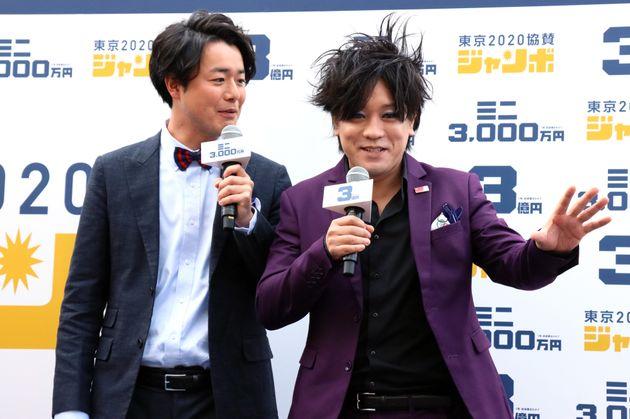 お笑いコンビ「ぺこぱ」のシュウペイさん(左)と松陰寺太勇さん(右)