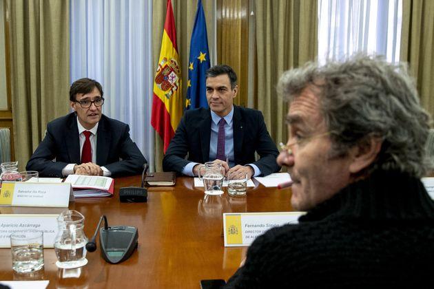 Fernando Simón, Salvador Illa y Pedro