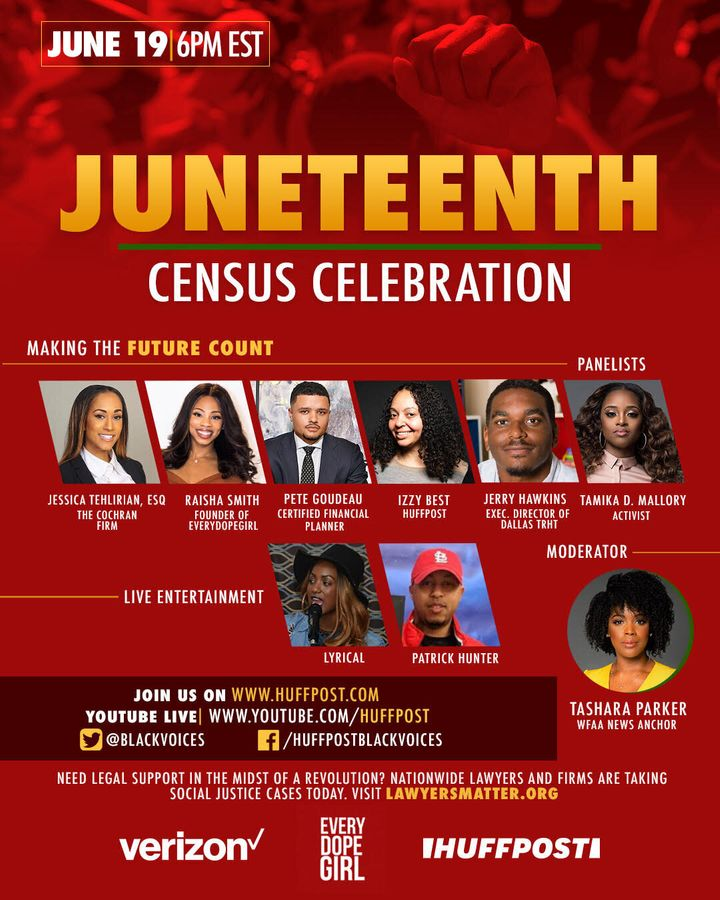 Verizon, EveryDopeGirl and HuffPost are hosting a Juneteenth event on Friday.
